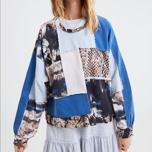 Zara Patchwork Jumper